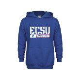 Youth Royal Fleece Hoodie-ECSU Basketball Stencil