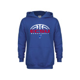 Youth Royal Fleece Hoodie-ECSU Basketball Half Ball