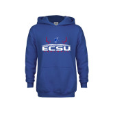 Youth Royal Fleece Hoodie-ECSU Football Field