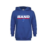 Youth Royal Fleece Hoodie-ECSU Band Stencil