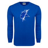 Royal Long Sleeve T Shirt-Viking Head Distressed