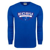 Royal Long Sleeve T Shirt-Arched ECSU Vikings