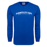Royal Long Sleeve T Shirt-Arched Elizabeth City State University
