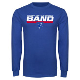 Royal Long Sleeve T Shirt-ECSU Band Stencil