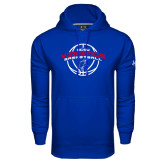 Under Armour Royal Performance Sweats Team Hoodie-ECSU Vikings Basketball Arched w/ Ball