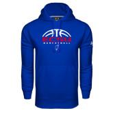 Under Armour Royal Performance Sweats Team Hoodie-ECSU Basketball Half Ball