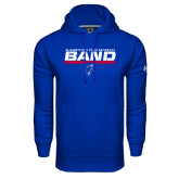 Under Armour Royal Performance Sweats Team Hoodie-ECSU Band Stencil