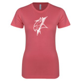 Next Level Ladies SoftStyle Junior Fitted Pink Tee-Viking Head