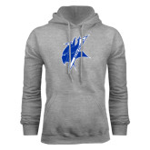Grey Fleece Hoodie-Viking Head
