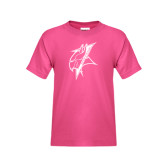 Youth Fuchsia T Shirt-Viking Head