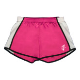 Ladies Fuchsia/White Team Short-Viking Head