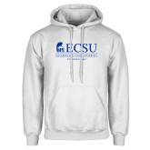 White Fleece Hoodie-ECSU