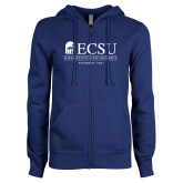 ENZA Ladies Royal Fleece Full Zip Hoodie-ECSU