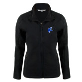 Ladies Black Softshell Jacket-Viking Head