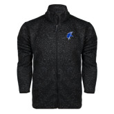 Black Heather Fleece Jacket-Viking Head