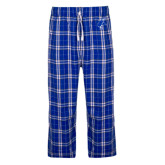 Royal/White Flannel Pajama Pant-Viking Head
