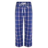 Royal/White Flannel Pajama Pant-ECSU