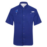 Columbia Tamiami Performance Royal Short Sleeve Shirt-Viking Head