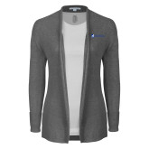 Ladies Heather Grey Open Front Cardigan-ECSU
