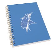 Clear 7 x 10 Spiral Journal Notebook-Viking Head