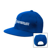 Royal Flat Bill Snapback Hat-ECSU
