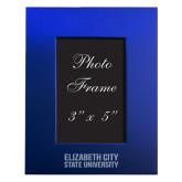 Royal Brushed Aluminum 3 x 5 Photo Frame-Elizabeth City State University Engraved