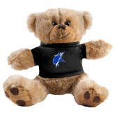 Plush Big Paw 8 1/2 inch Brown Bear w/Black Shirt-Viking Head