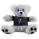 Plush Big Paw 8 1/2 inch White Bear w/Black Shirt-Viking Head