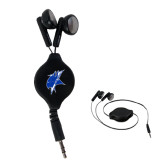 Black Retractable Ear Buds-Viking Head