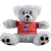 Plush Big Paw 8 1/2 inch White Bear w/Pink Shirt-Viking Head