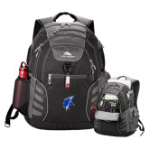 High Sierra Big Wig Black Compu Backpack-Viking Head