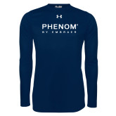 Under Armour Navy Long Sleeve Tech Tee-Phenom By Embraer