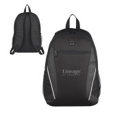 Atlas Black Computer Backpack-Lineage By Embraer