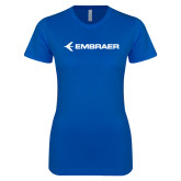 Next Level Ladies SoftStyle Junior Fitted Royal Tee-Embraer