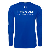 Under Armour Royal Long Sleeve Tech Tee-Phenom By Embraer
