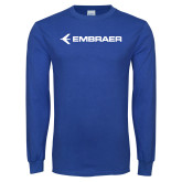 Royal Long Sleeve T Shirt-Embraer