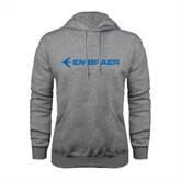 Grey Fleece Hoodie-Embraer