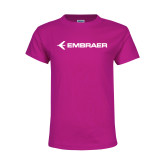 Youth Cyber Pink T Shirt-Embraer