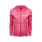ENZA Ladies Fuchsia Fleece Full Zip Hoodie-Embraer