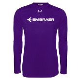 Under Armour Purple Long Sleeve Tech Tee-Embraer
