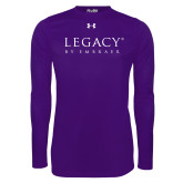 Under Armour Purple Long Sleeve Tech Tee-Legacy By Embraer