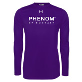 Under Armour Purple Long Sleeve Tech Tee-Phenom By Embraer
