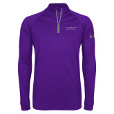 Under Armour Purple Tech 1/4 Zip Performance Shirt-Legacy By Embraer