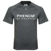 Under Armour Carbon Heather Tech Tee-Phenom By Embraer