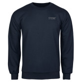 Navy Fleece Crew-Lineage By Embraer