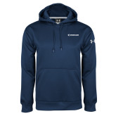 Under Armour Navy Performance Sweats Team Hoodie-Embraer