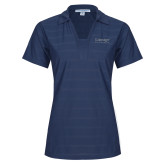 Ladies Indigo Blue Horizontal Textured Polo-Lineage By Embraer