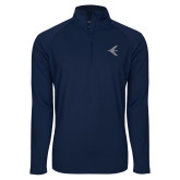 Sport Wick Stretch Navy 1/2 Zip Pullover-Embraer Bird