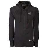 Ladies Under Armour Black Varsity Full Zip Hoodie-Embraer Bird