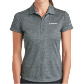Ladies Nike Dri Fit Charcoal Crosshatch Polo-Embraer